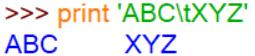 \t 水平制表符跳过几个空格 和空格有什么关系