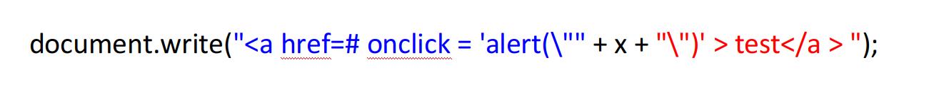 """理解 白帽子讲web安全 'alert(\"""""""" + x + """"\"""")'"""